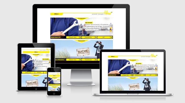 Ihre Website perfekt designt für jeden Bildschirm!