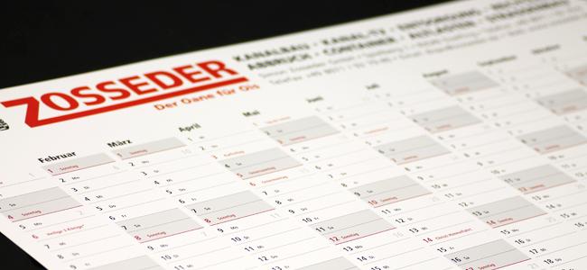 Ihr Firmenkalender für das neue Jahr 2015!