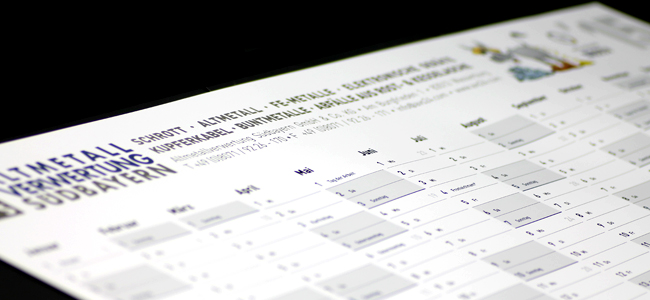 AVS Jahreskalender