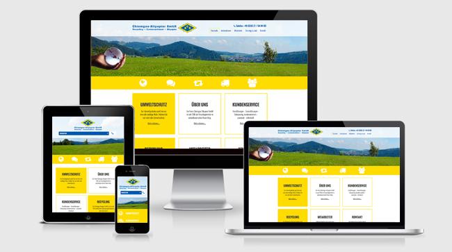 Chiemgau Altpapier Homepage