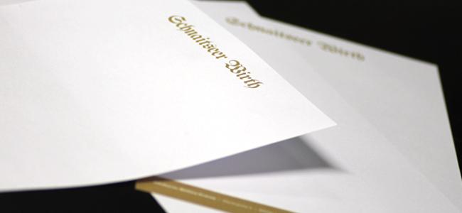 Schnaitseer Wirth Briefpapier