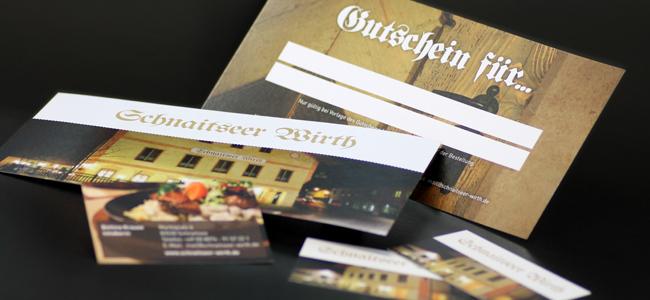 Schnaitseer Wirth Gutschein & Visitenkarte