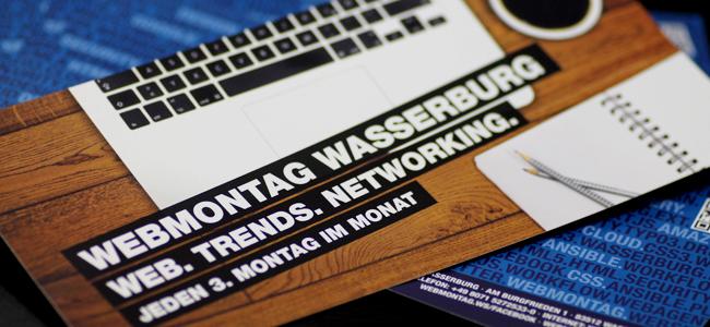 Flyer für den anstehenden Webmontag in Wasserburg