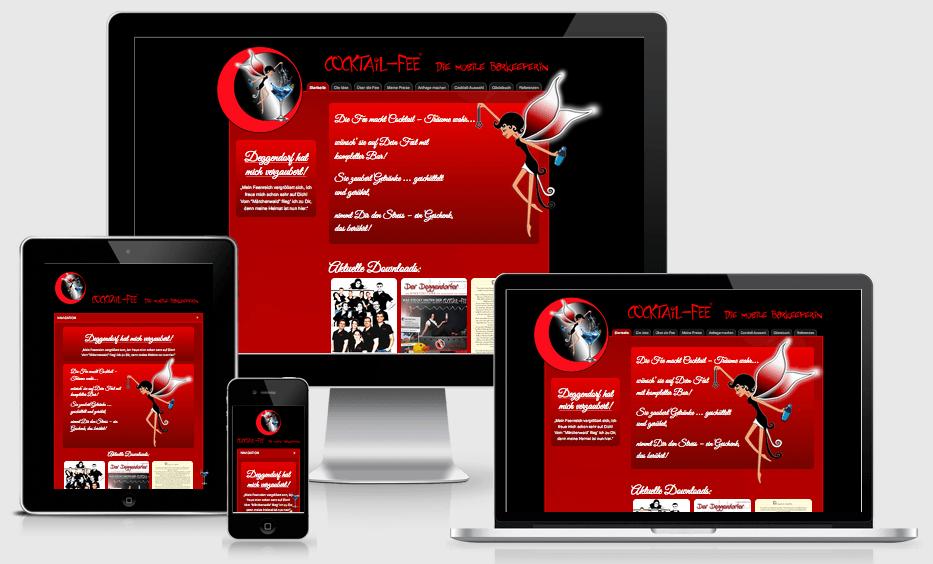 Responsive Webdesign für die Cocktail-Fee