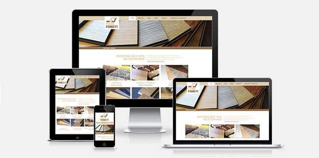 Responsive Webdesign für Plank Parkett