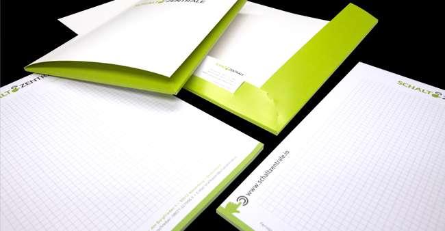 Blöcke und Mappen für die Schaltzentrale GmbH