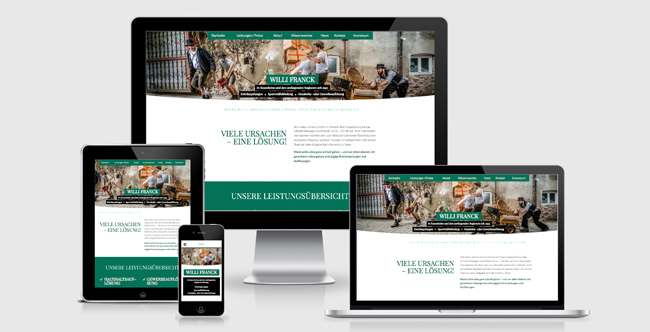 Responsive Webdesign für Entrümpler Willi Franck