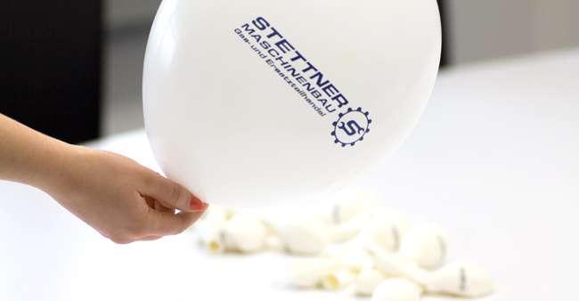 Luftballons für die Firma Stettner