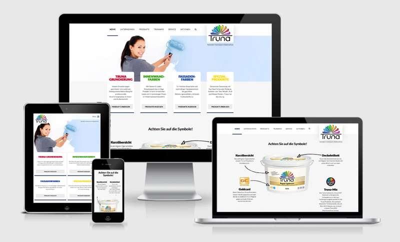 Responsive Webdesign für Truna
