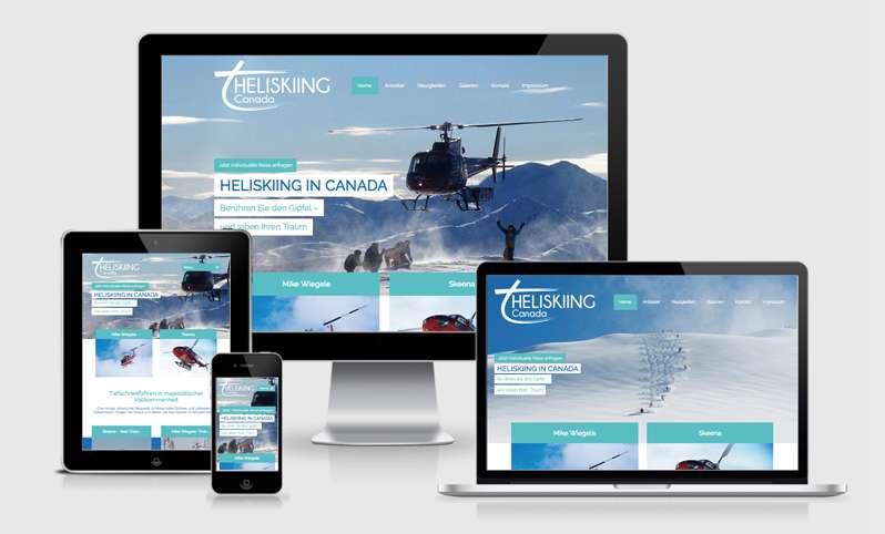 Ein neues Webdesign für Heliskiing Canada
