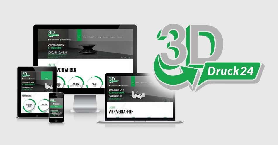 Ein neues Webdesign für 3D Druck24