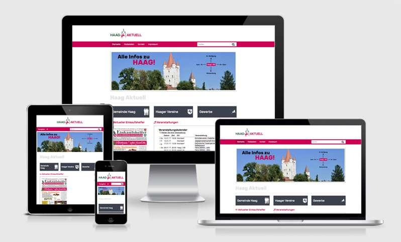 Responsive Webdesign für Haag Aktuell
