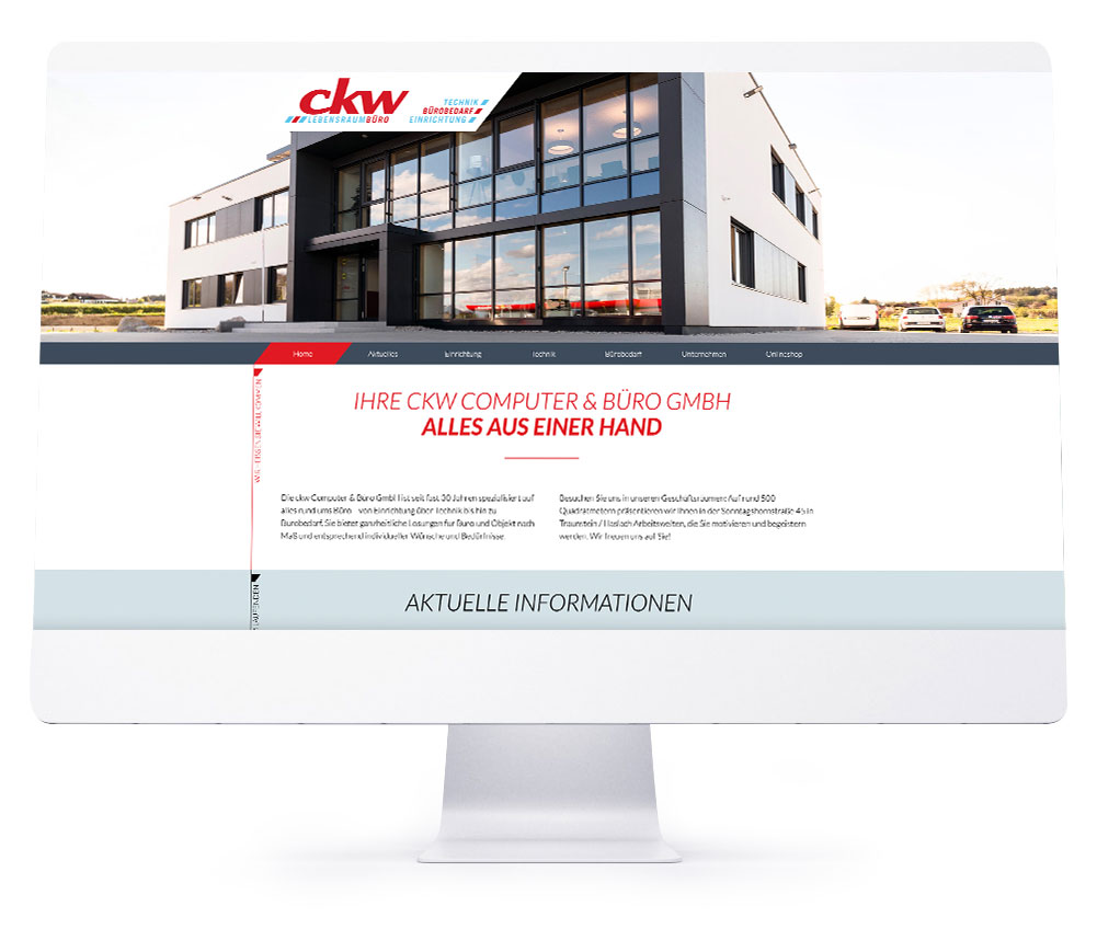 Webdesign Referenzen - ckw Computer & Büro GmbH