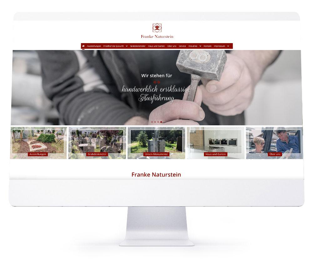 Webdesign Referenzen - Franke Naturstein GmbH