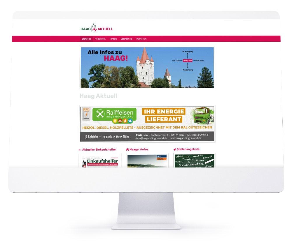Webdesign Referenzen - Haag Aktuell