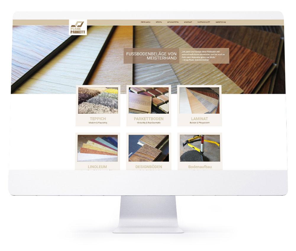 Webdesign Referenzen - Plank Parkett