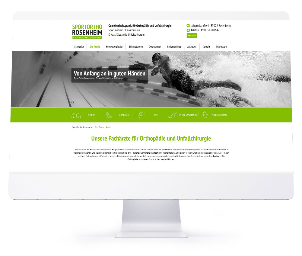 Webdesign Rosenheim - Sportortho Rosenheim