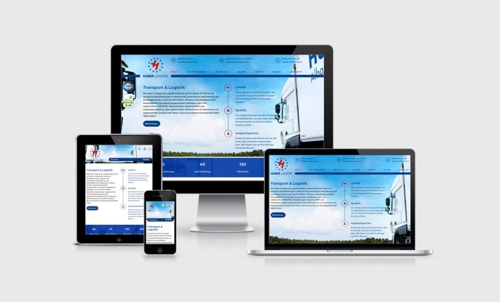 Webdesign Transportunternehmen Huber Logistik