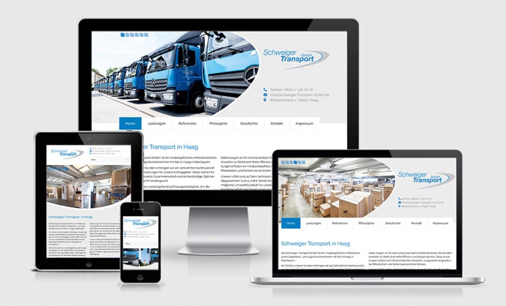 Schweiger Transport Webdesign