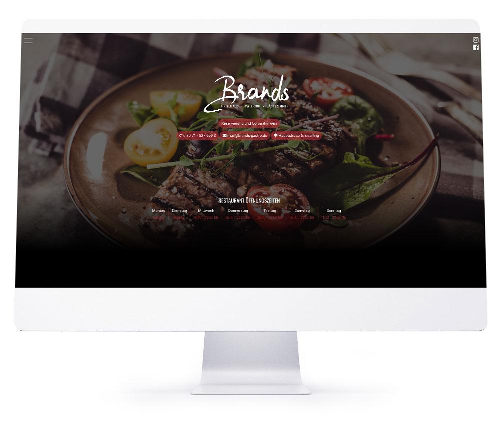 Webdesign Referenzen - Brands Grillhaus
