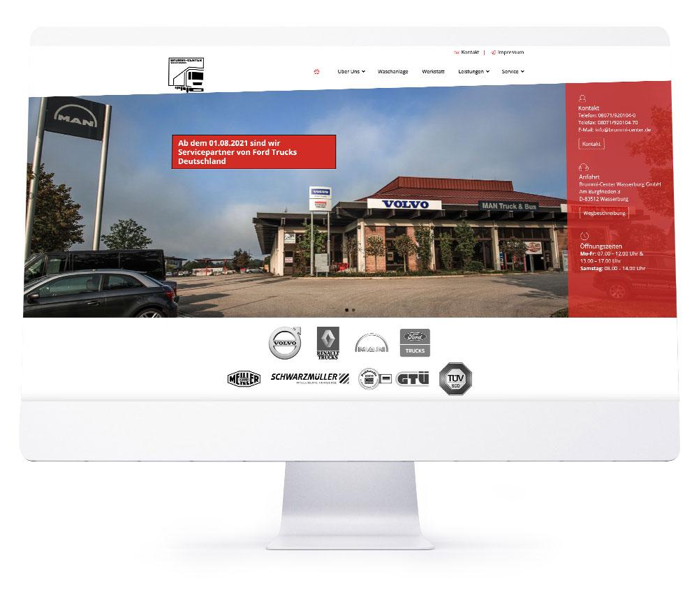 Webdesign Rosenheim - Brummi Center Wasserburg