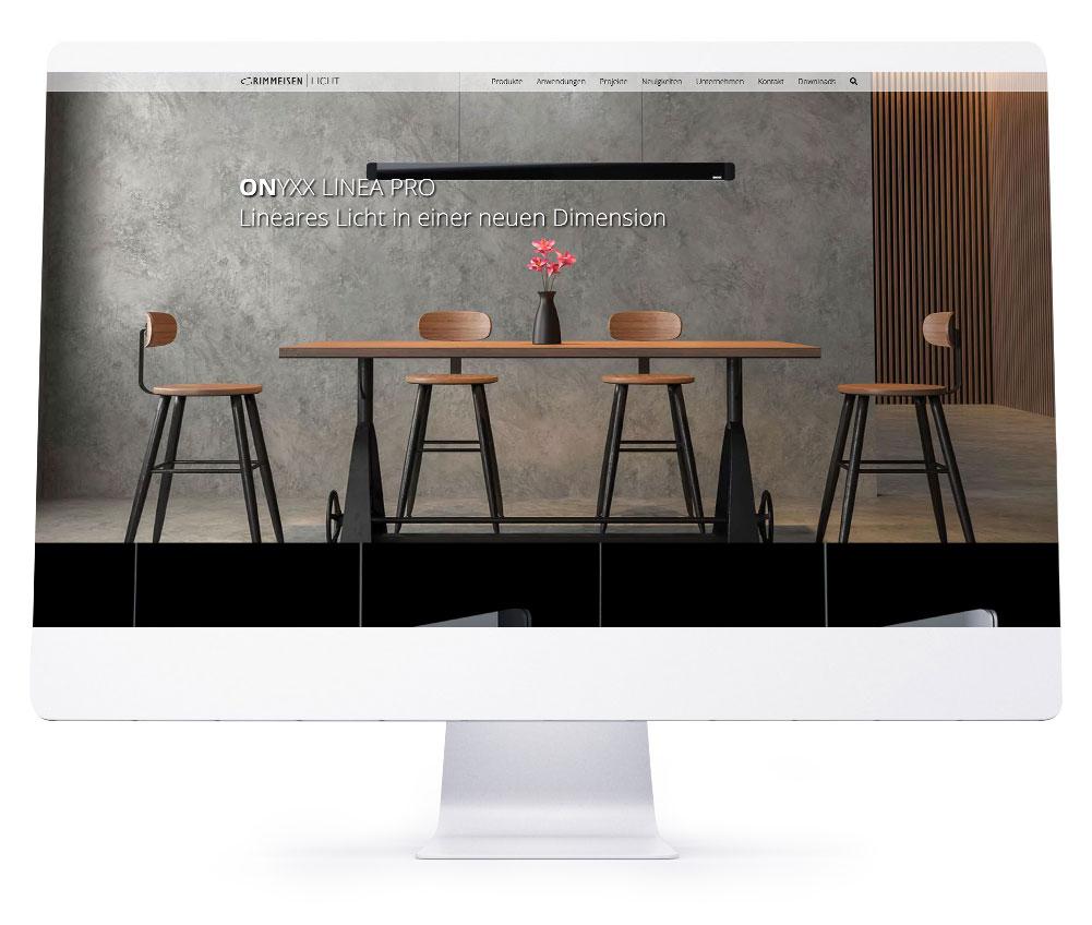 Webdesign Referenzen - Grimmeisen Licht GmbH