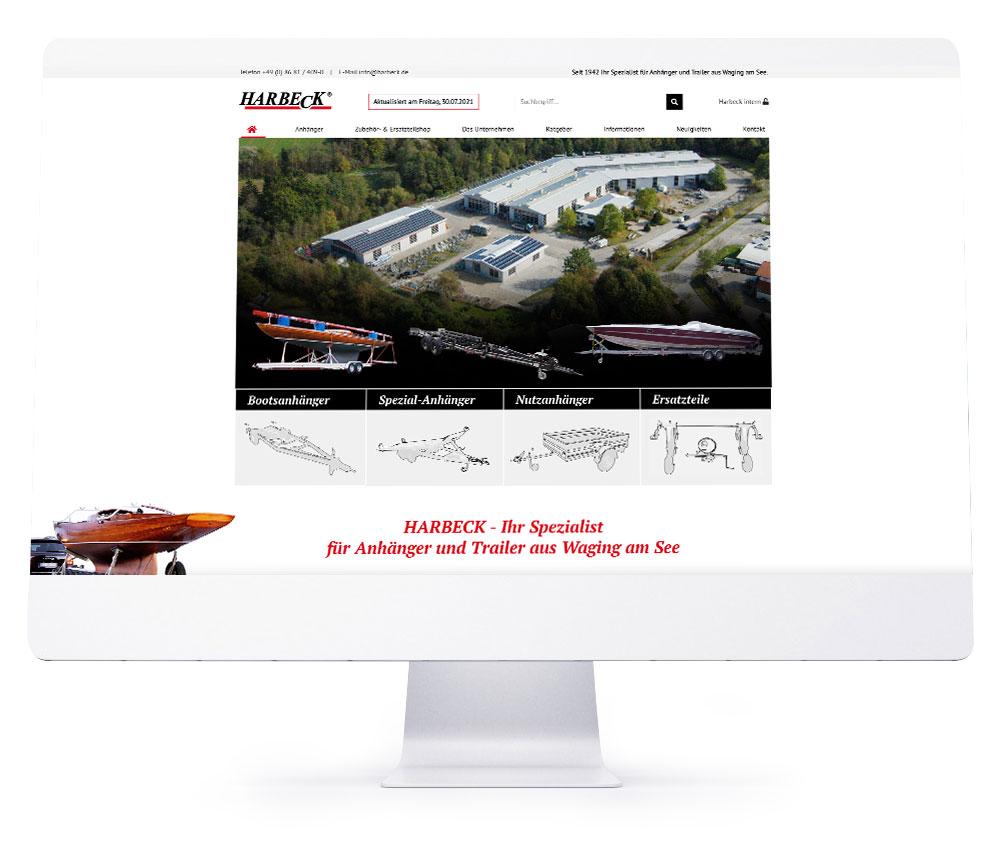 Webdesign Referenzen - Harbeck Anhänger