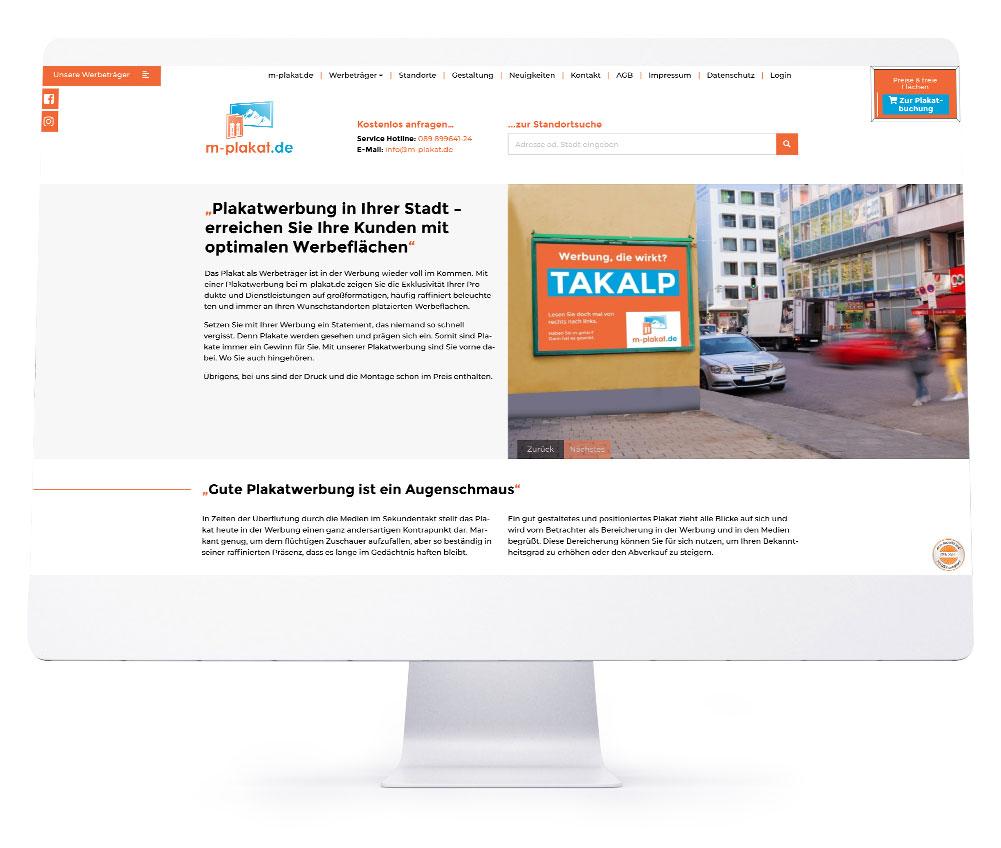 Webdesign Referenzen - m-plakat