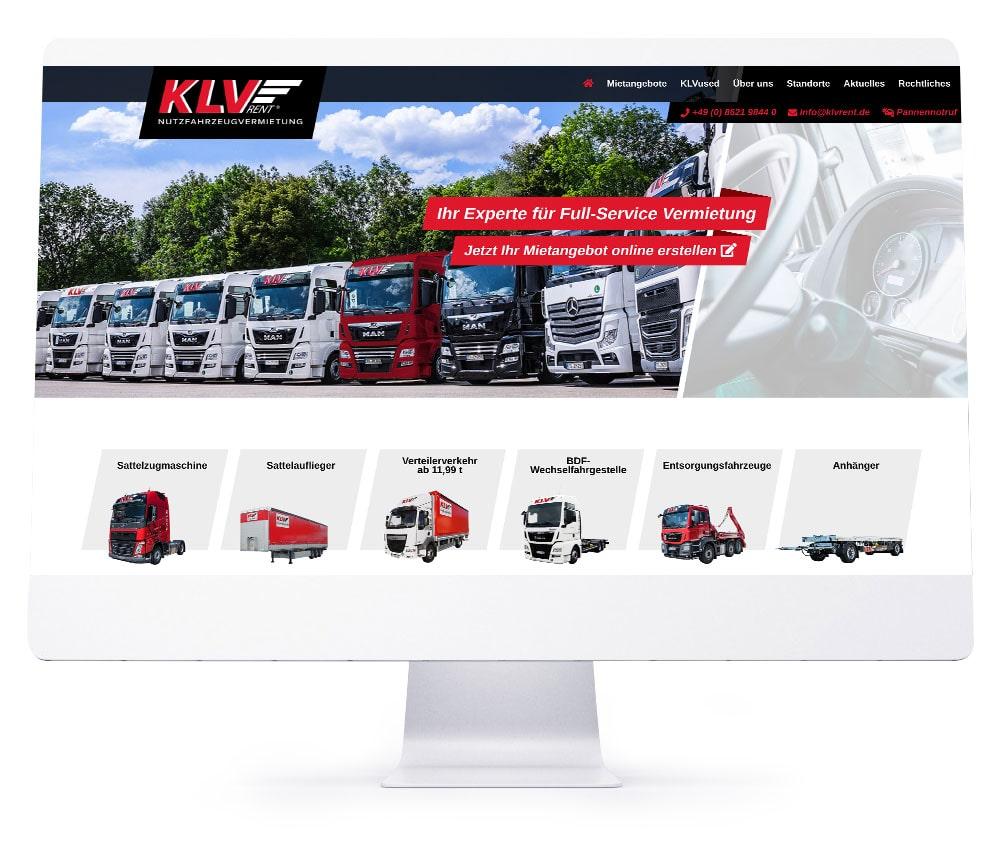 Webdesign Referenzen - KLVrent GmbH & Co. KG