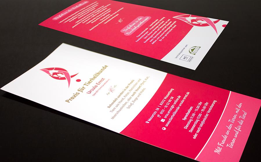 Flyer für die Praxis für Tierheilkunde