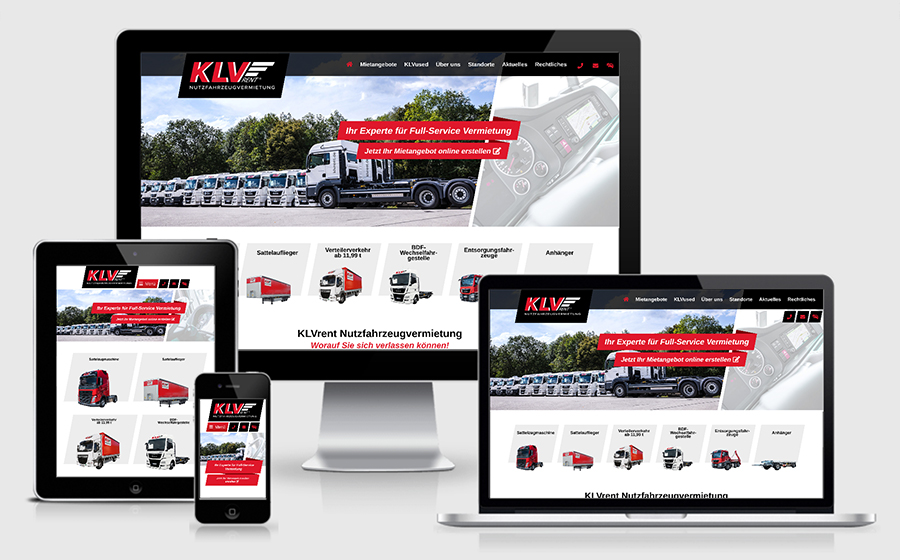 neues Webdesign KLVrent