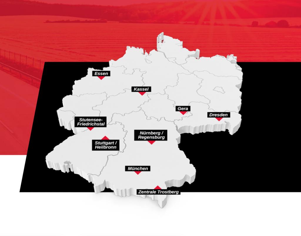 KLV-Standortkarte
