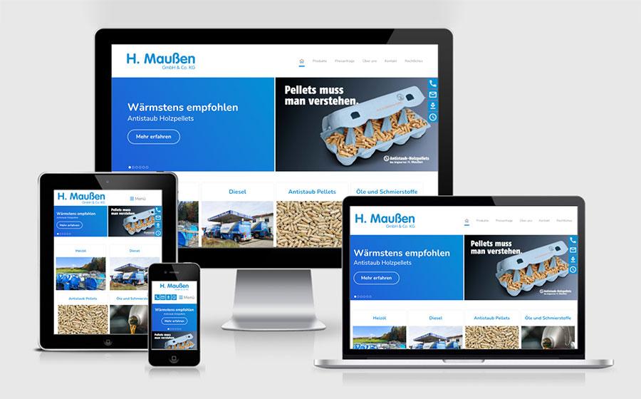 Neues Webdesign für die H. Maußen GmbH & Co. KG
