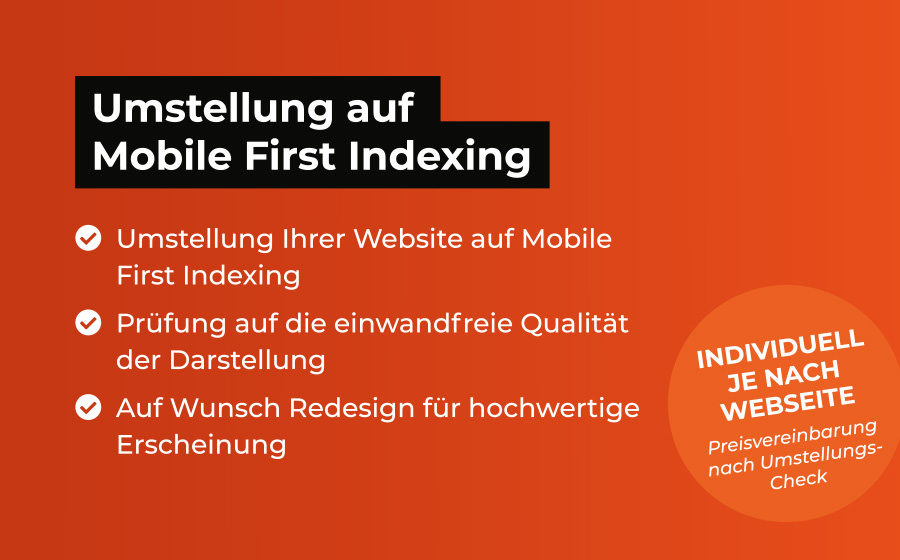 Umstellung auf Mobile First Indexing