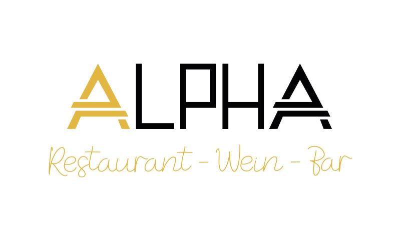 Logoentwicklung Ref - Alpha – Restaurant/Wein/Bar