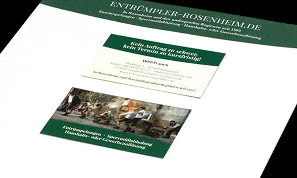 Corporate Design - Entrümpler Rosenheim
