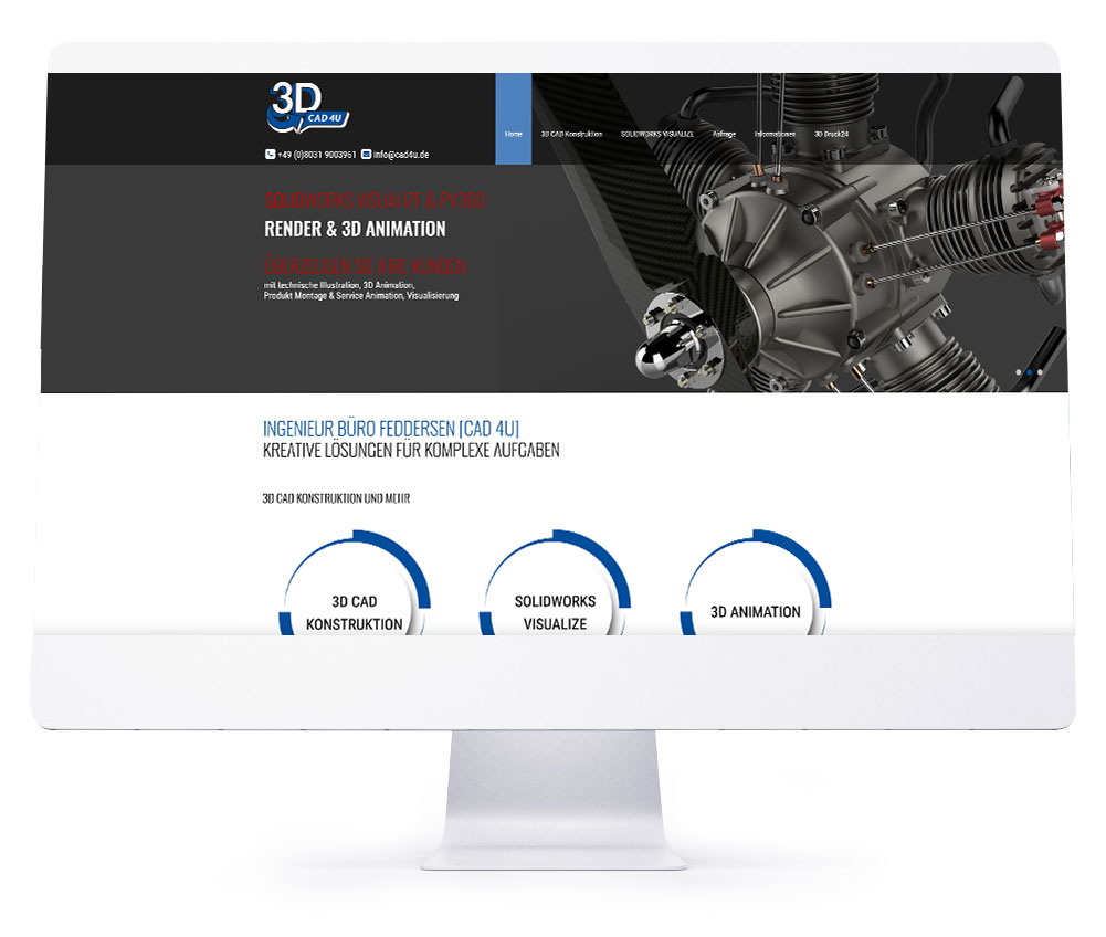Webdesign Referenzen - 3D CAD 4U