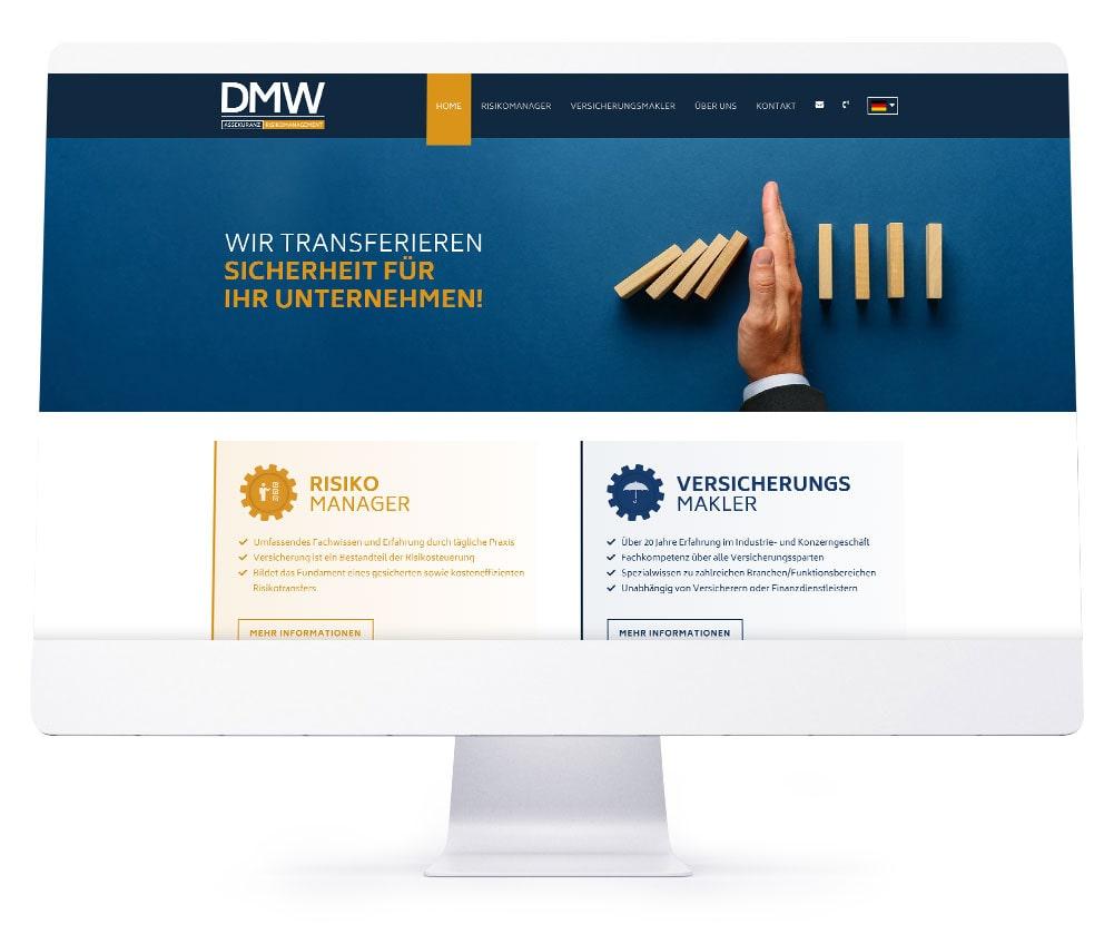 Webdesign Ebersberg - DMW Assekuranz und Risikomanagement GmbH