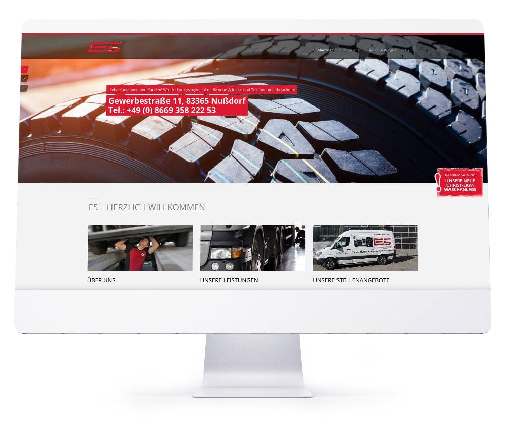 Webdesign Referenzen - E5 GmbH