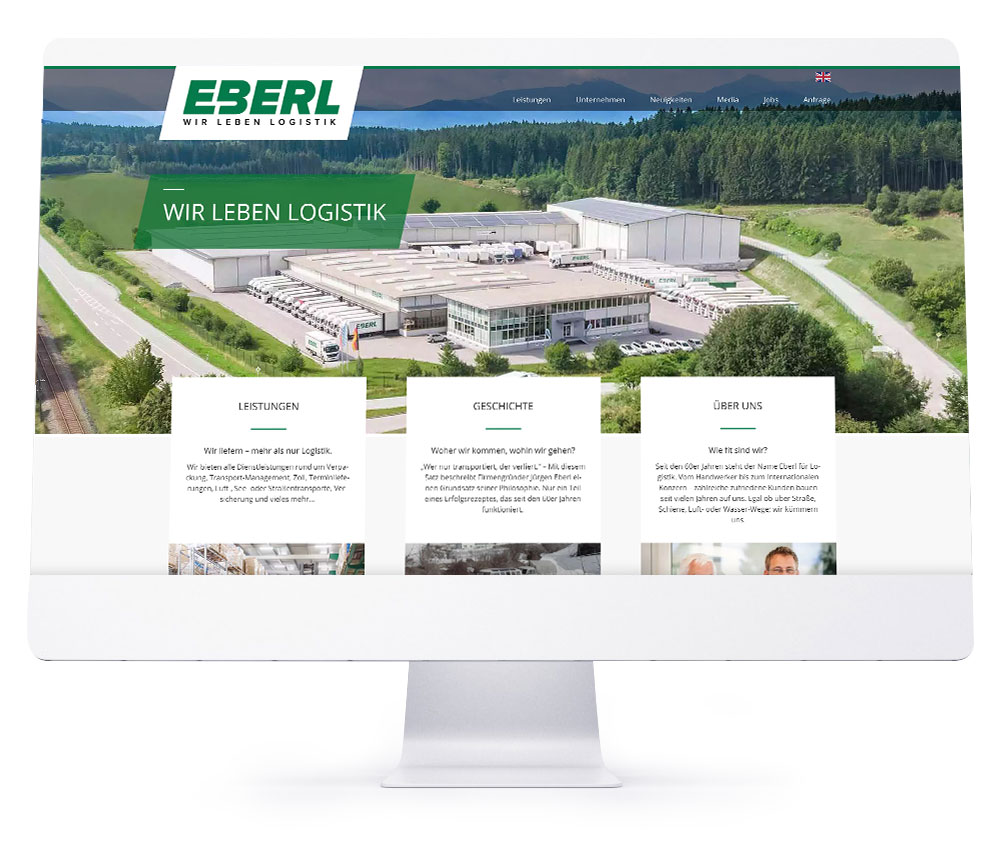 Webdesign Referenzen - Eberl Internationale Spedition GmbH & Co. KG