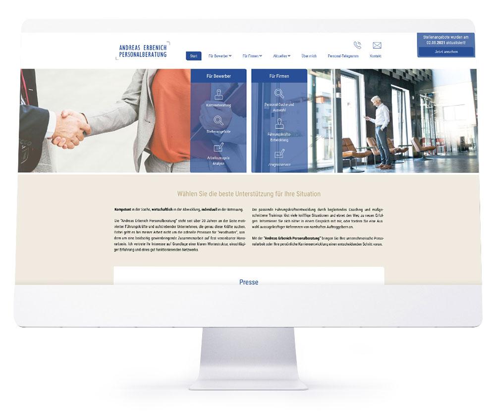 Webdesign Referenzen - Andreas Erbenich Personalberatung