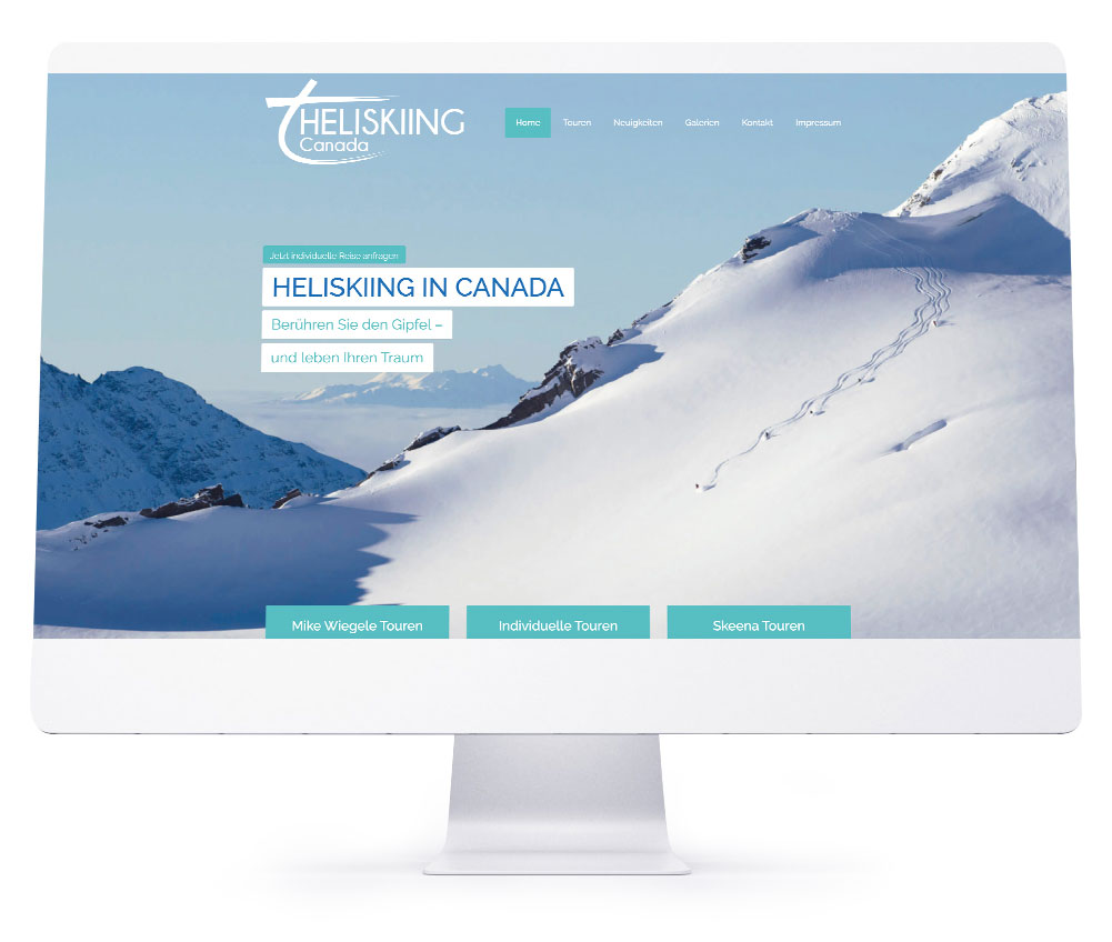 Webdesign Referenzen - Heliksiing Canada