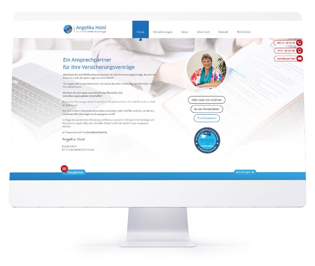 Webdesign Referenzen - Angelika Hoisl