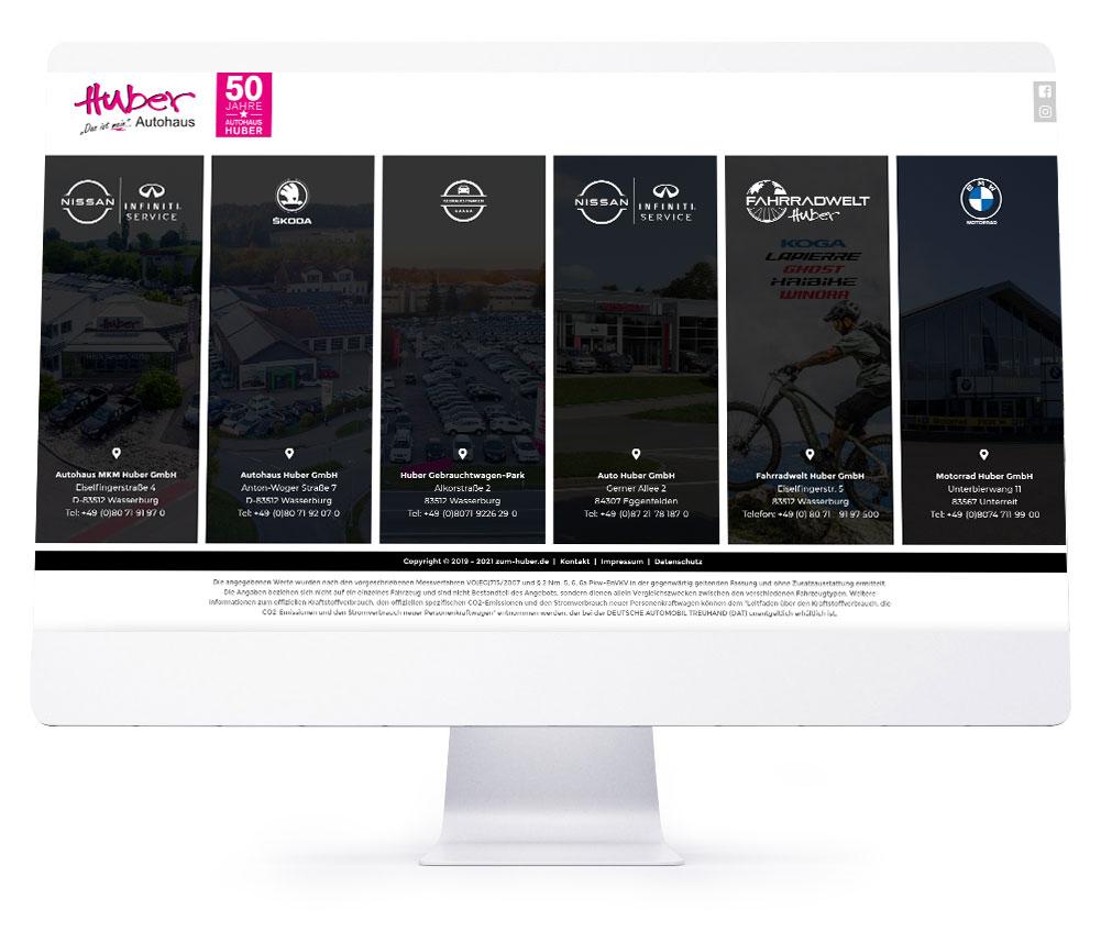 Webdesign Referenzen - Huber Autohaus Wasserburg