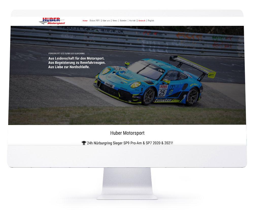 Webdesign Referenzen - Huber Motorsport