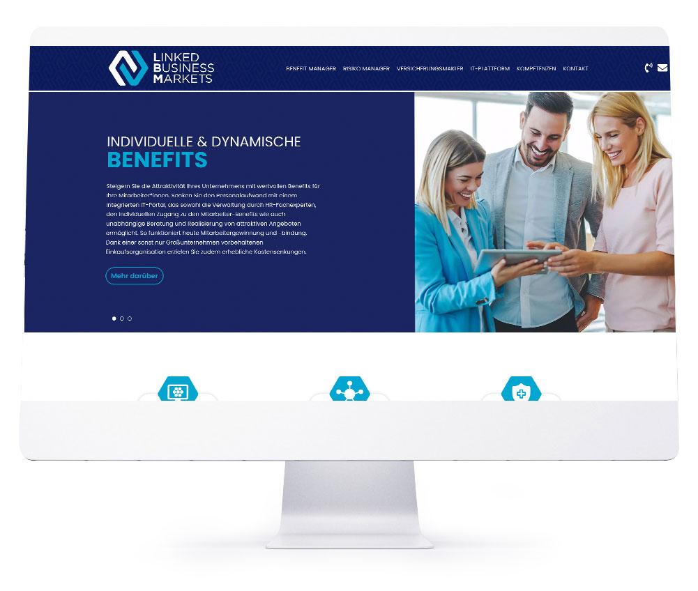Webdesign Referenzen - LBM Linked Business Markets GmbH