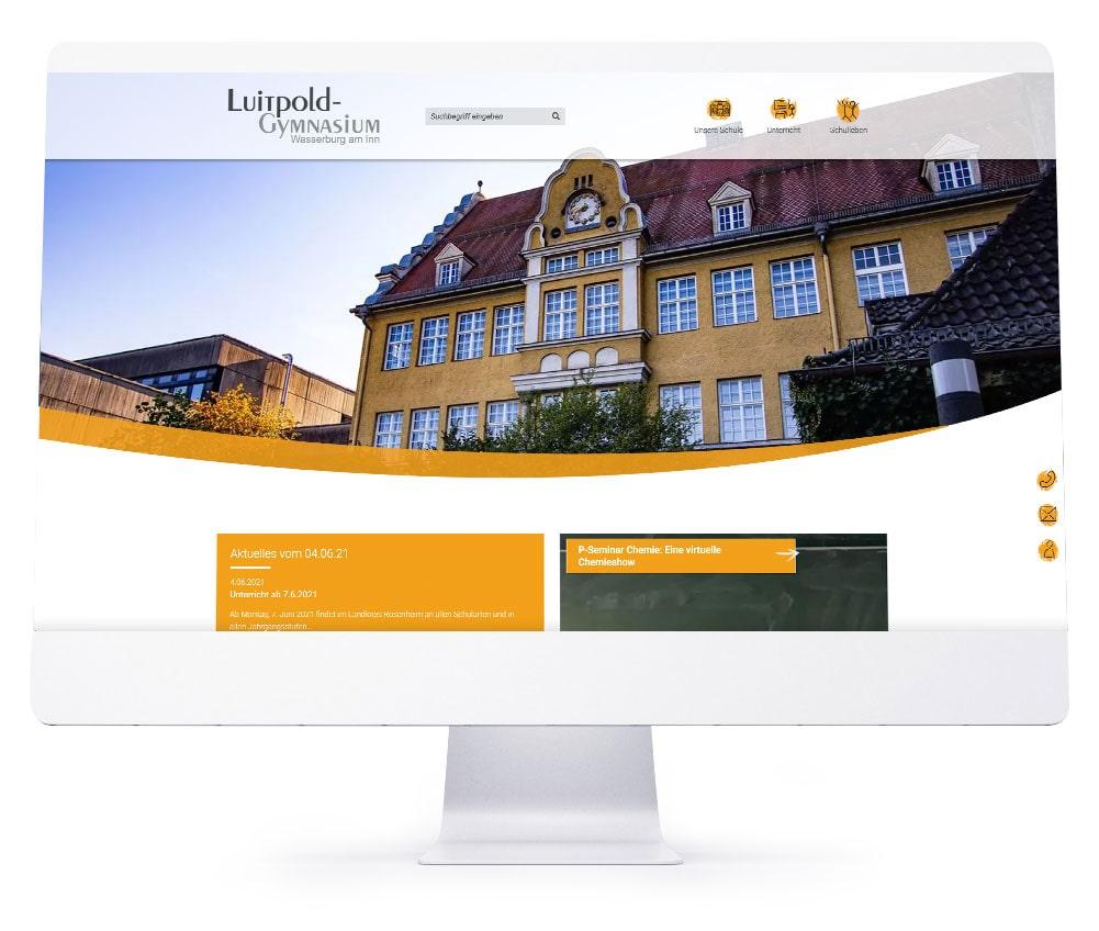 Webdesign Ebersberg - Luitpold Gymnasium Wasserburg