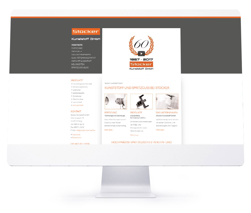 Webdesign Referenzen - Stocker Kunststoff