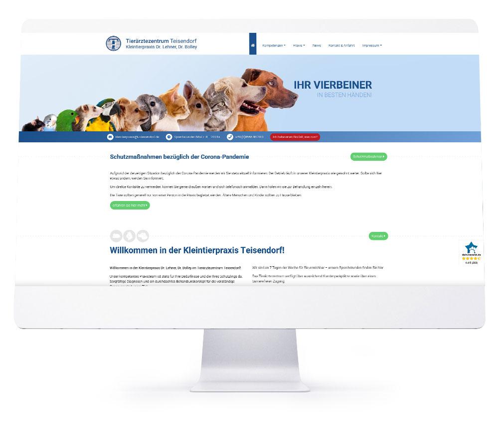 Webdesign Referenzen - Tierärztezentrum Teisendorf
